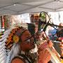 Straßenmusikanten aus den Anden in Niteroi