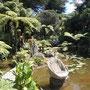 künstlerisch gestalteter Garten von Jill und Wayne