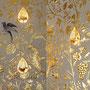 Décor à la feuille d'or et oiseaux polychromes (Beyrouth - Restaurant le Momo's)