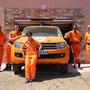 Les bénévoles prêts pour les missions
