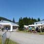 Arrivée trail UTTJ Mijoux - Juillet 2015 - Auvent