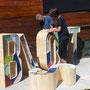 Ubisoft - Sculpture Lettres Géantes - Les Chemins de Traverse