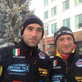 Pietro Donati and Fabio Pasini in Lordi Square (Rovaniemi) before start his Challenge.