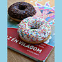 Ethics school book with Donuts
