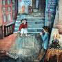 """Anne Marie Audren   """"Fragment de la Cité aux Artistes"""" acrylique 120cmx80cm"""