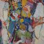 """Catherine Demoulin  """"Cinq sens en spirale  204""""  acrylique sur panneau  55x38"""