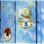 """AVIE                       """"Au Numéro trois""""            aquarelle     27 x 38"""