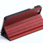 iphone 6 6s flip case red rose wood back stand