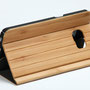 Galaxy s7 edge wooden flip case bamboo flip