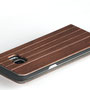 Galaxy s7 edge wooden flip case walnut top