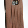 Galaxy s7 edge wooden flip case walnut camera
