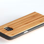 Galaxy s7 edge wooden flip case bamboo top