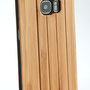 Galaxy s7 edge wooden flip case bamboo camera