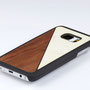 Samsung Galaxy s7 edge case walnut wood and white nacre above