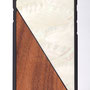 iphone 7 wooden case bamboo and white nacre