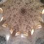 Plafond Maure, la Salle des Abencérages, Alhambra Palais