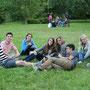 Christ Church の芝生で一休み