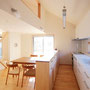 2Fダイニングキッチン ロフト窓にはポリカーボネートを入れ、お料理の湯気や煙がいかないようになっています。