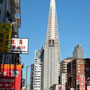 Chinatown San Francisco Blick auf Financial District, Transamerica Pyramide