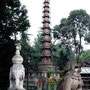 Garten des Wenshu Tempel in Chengdu