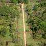 Sigiriya königlicher Lustgarten von oben