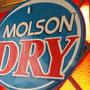 Enseigne Molson Dry  no. 601
