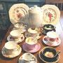 Tasses de collection, théière et 2 belles assiettes Lord Nelson  no. 651