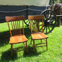 2 chaises Press Back  no. 116