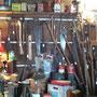 Vue sur une partie de nos outils antiques
