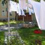 Wäsche im Hof