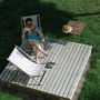 Sommer auf dem Holzdeck