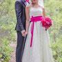 Brautgürtel in pink