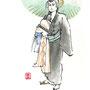 歌舞伎 挿絵 ラフ 3分間 マーカー サインペン