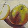 Äpfel 3 30 x 30 Pastell auf Papier 2011 LS004