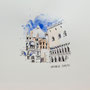 Venedig San Marco  24 x 24 Tusche Aquarell a.Papier 2015 Z231