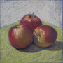 Äpfel 1 30 x 30 Pastell auf Papier 2011 LS005