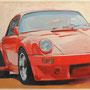 Rote Dynamik 100x80 Acryl auf Leinwand 2011 A017