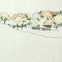 Hinterland 1 24x20 Tusche Aquarell auf Papier 2014 Z175