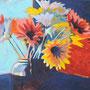 Gerbera 100 x 80 Acryl auf Leinwand 2013-02 LS025