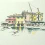 Gardasee 2012 8 24x24 Tusche Aquarell auf Papier 2014 Z188