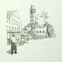 Ravensburg 3 24x24 Tusche Aquarell auf Papier 2014 Z177