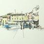 Gardasee 2012 9 24x24 Tusche Aquarell auf Papier 2014 Z187