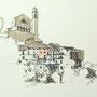 Gardasee 2012 5 24x24 Tusche Aquarell auf Papier 2014 Z191
