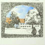Ochsenhausen 1 24x24 Tusche Aquarell auf Papier 2014 Z173