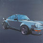 Porsche 930 Turbo 80x80 Acryl auf Leinwand 2018-05 A0 51