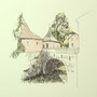 Rothenburg o.T. 1 24x24 Tusche Aquarell auf Papier 2014 Z182