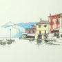 Gardasee 2012 10 24x24 Tusche Aquarell auf Papier 2014 Z186