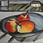 Obstschale Acryl auf Papier 30-20 2010 LS066