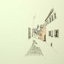 Rothenburg o.T. 3 24x24 Tusche Aquarell auf Papier 2014 Z180