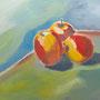 Äpfel Acryl auf Platte 80-60 2011 LS065